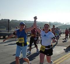 February 2009 Mile 10 of my 2nd 1/2 marathon 130 pounds with Janey Jaye