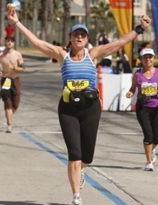 October 2009 Finish line of my first marathon, 135 pounds